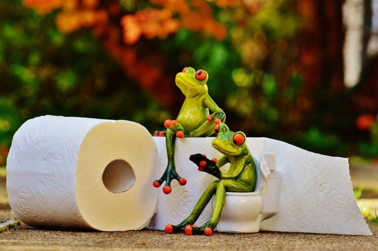 Toilettenrollstuhl Test