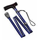 Gehstock Krückstock Spazierstock Aluminium Blau 1 Stück Wanderstock Gehhilfe Tiga-Med