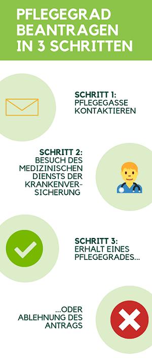 pflegegrad beantragen infografik